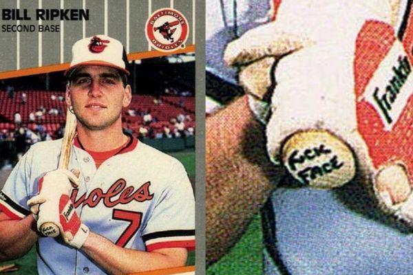 The infamous 1989 Billy Ripken Baseball card