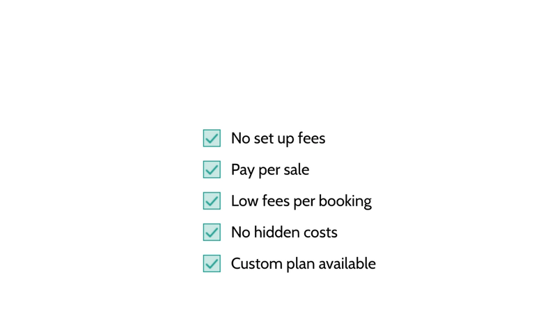 Free booking system for tourist boards