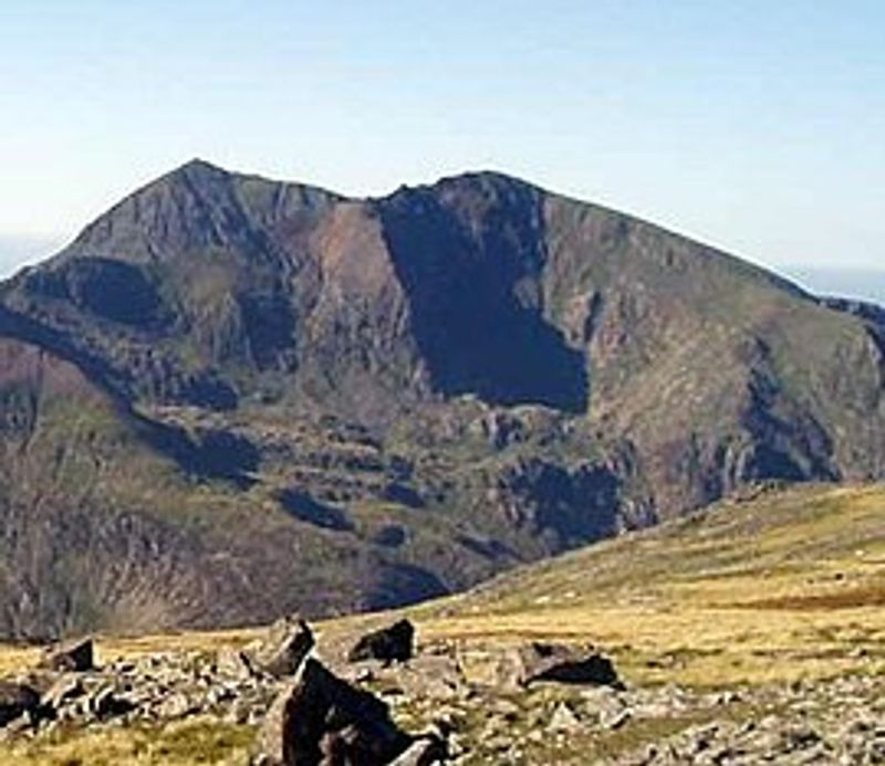 Garnedd Ugain second highest mountain in wales