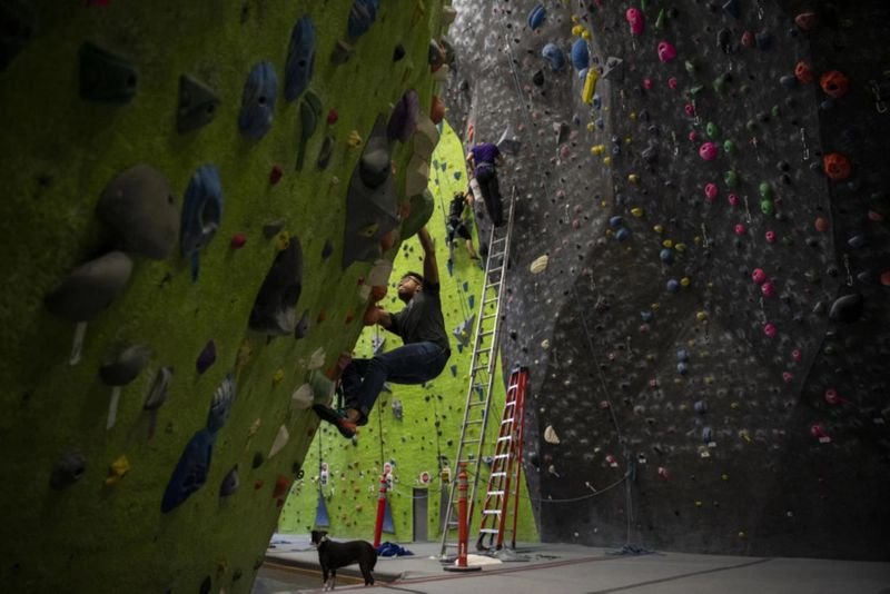 What is indoor rock climbing
