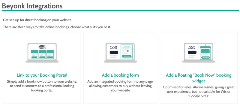 Implement Booking software on your website