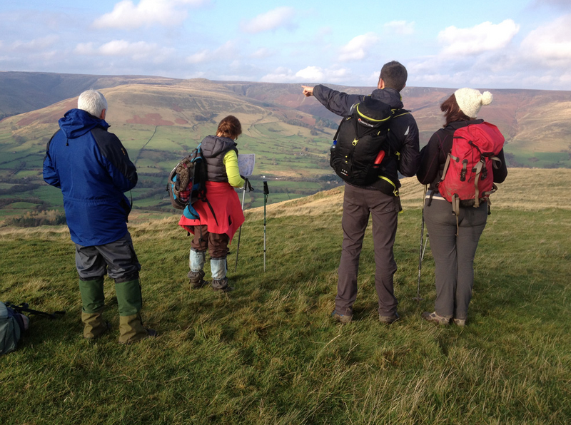 orienteering and hiking in the Peak District