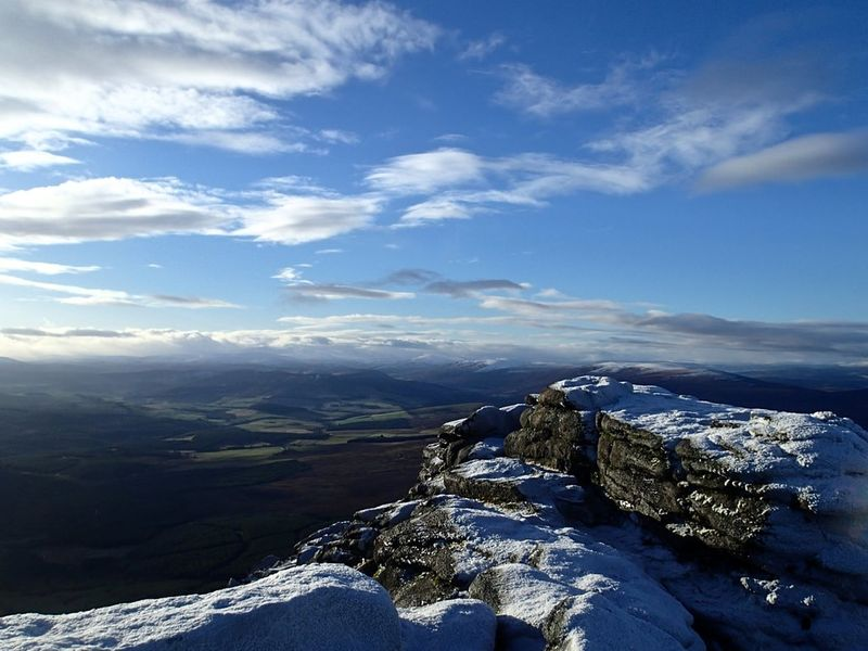 cairngorm high mountain in uk
