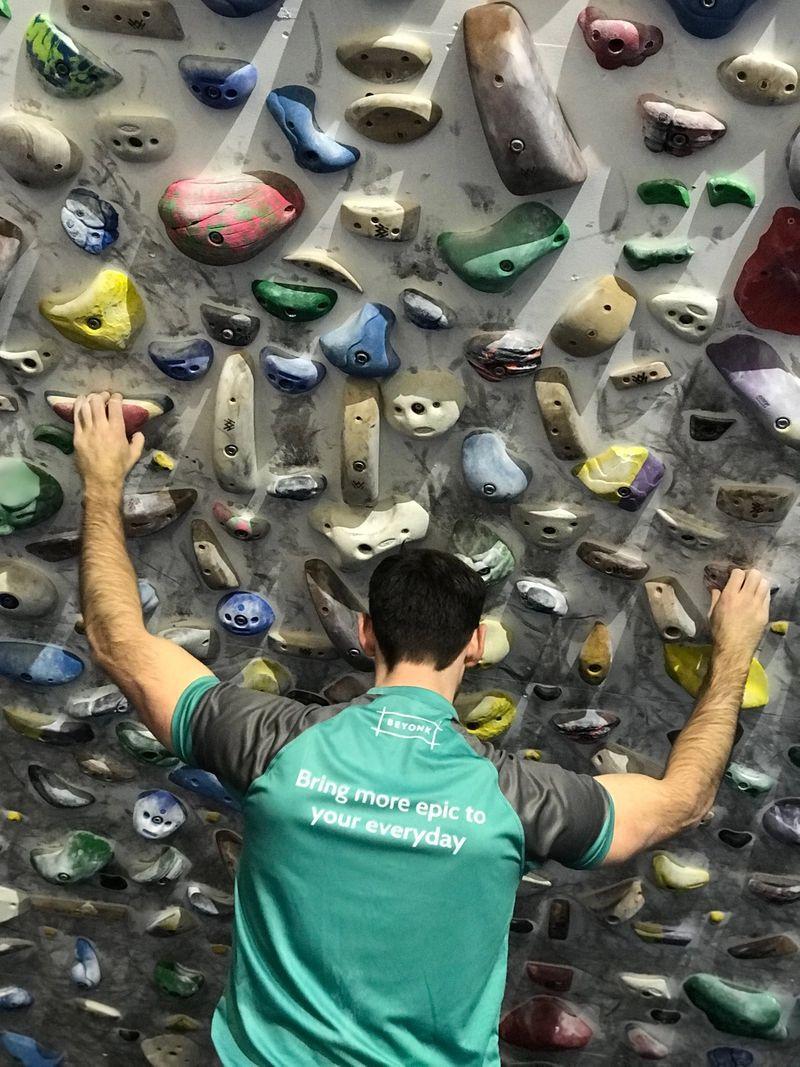 bouldering indoors