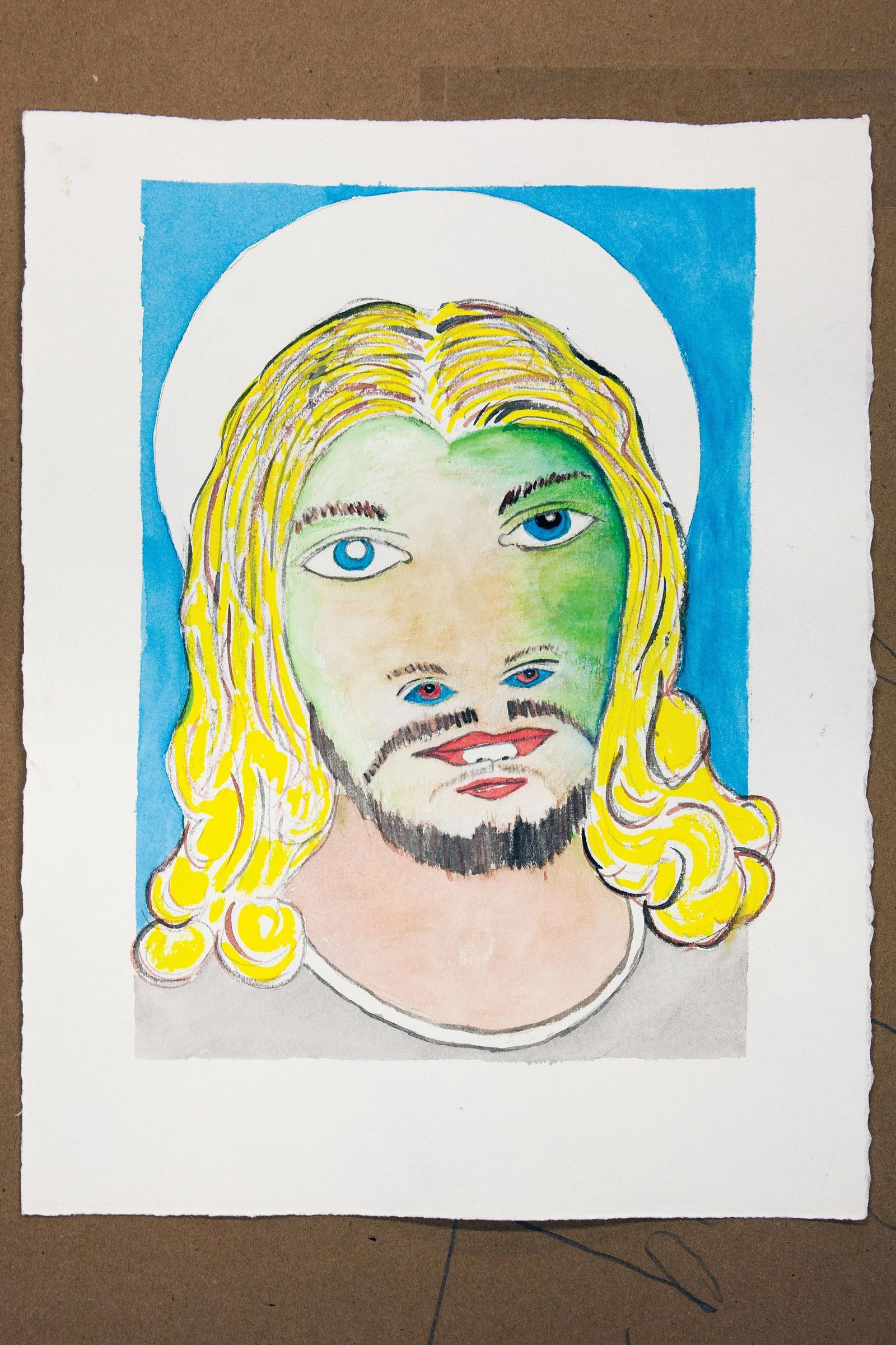 Drawing of Jesus Within Jesus by Gibby Haynes from 2015