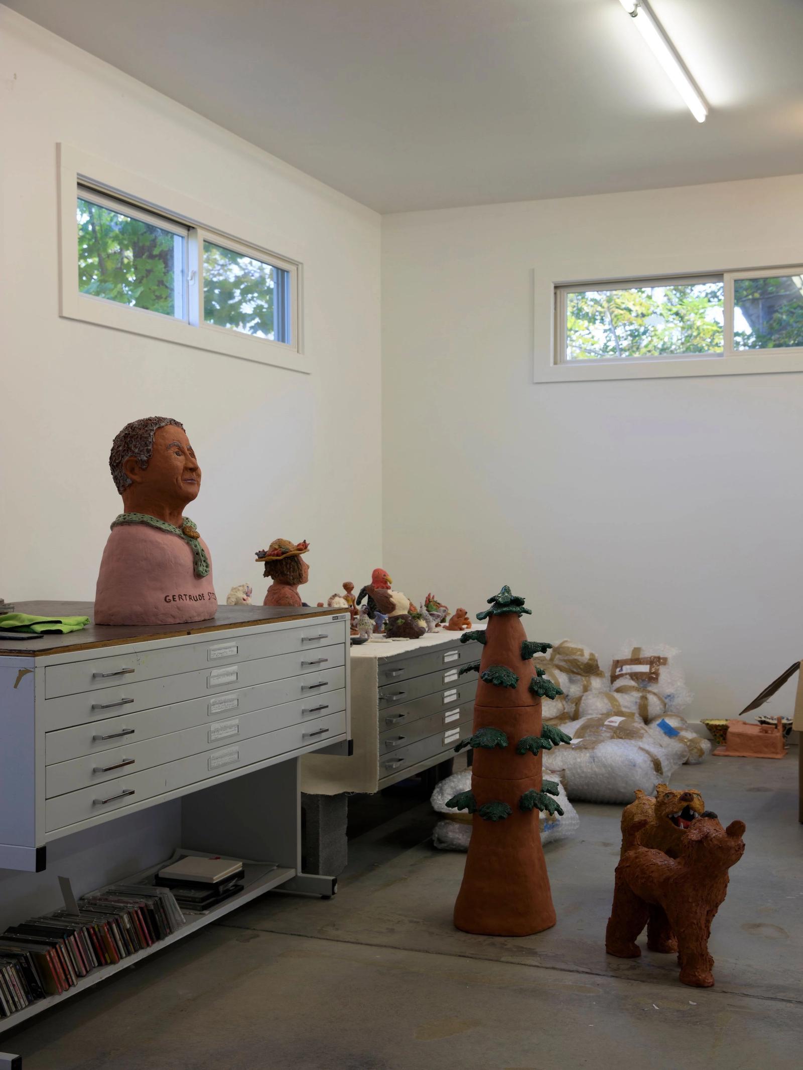 Sally Saul's artist studio
