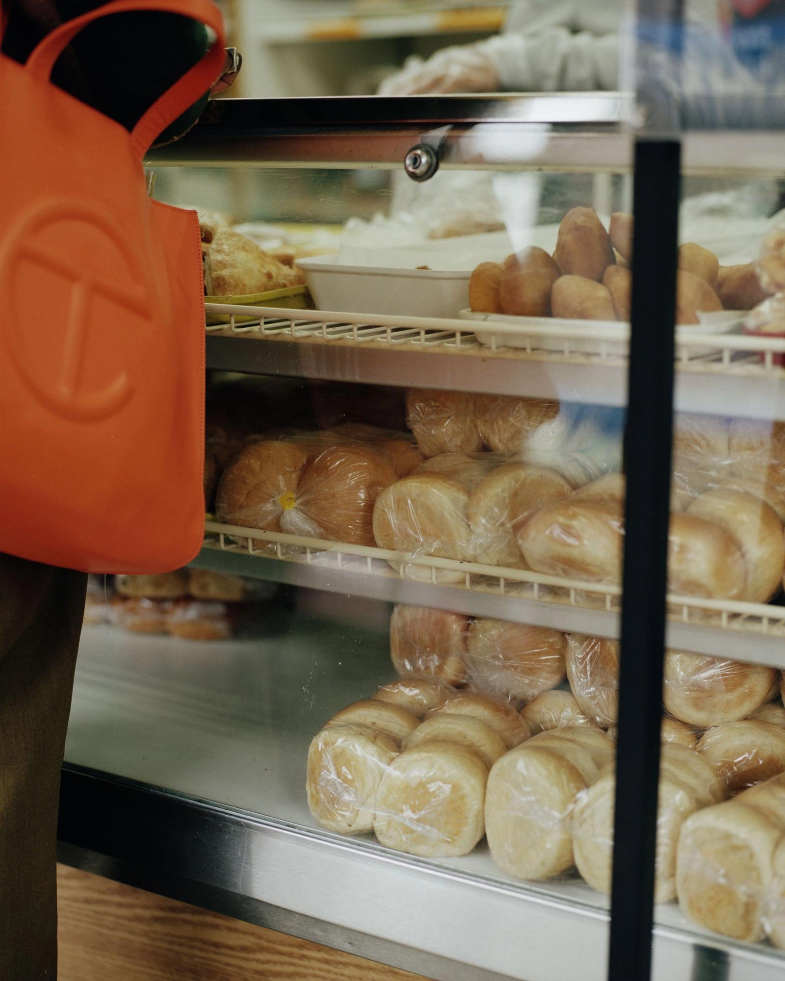 Devonn Francis at a bakery counter.