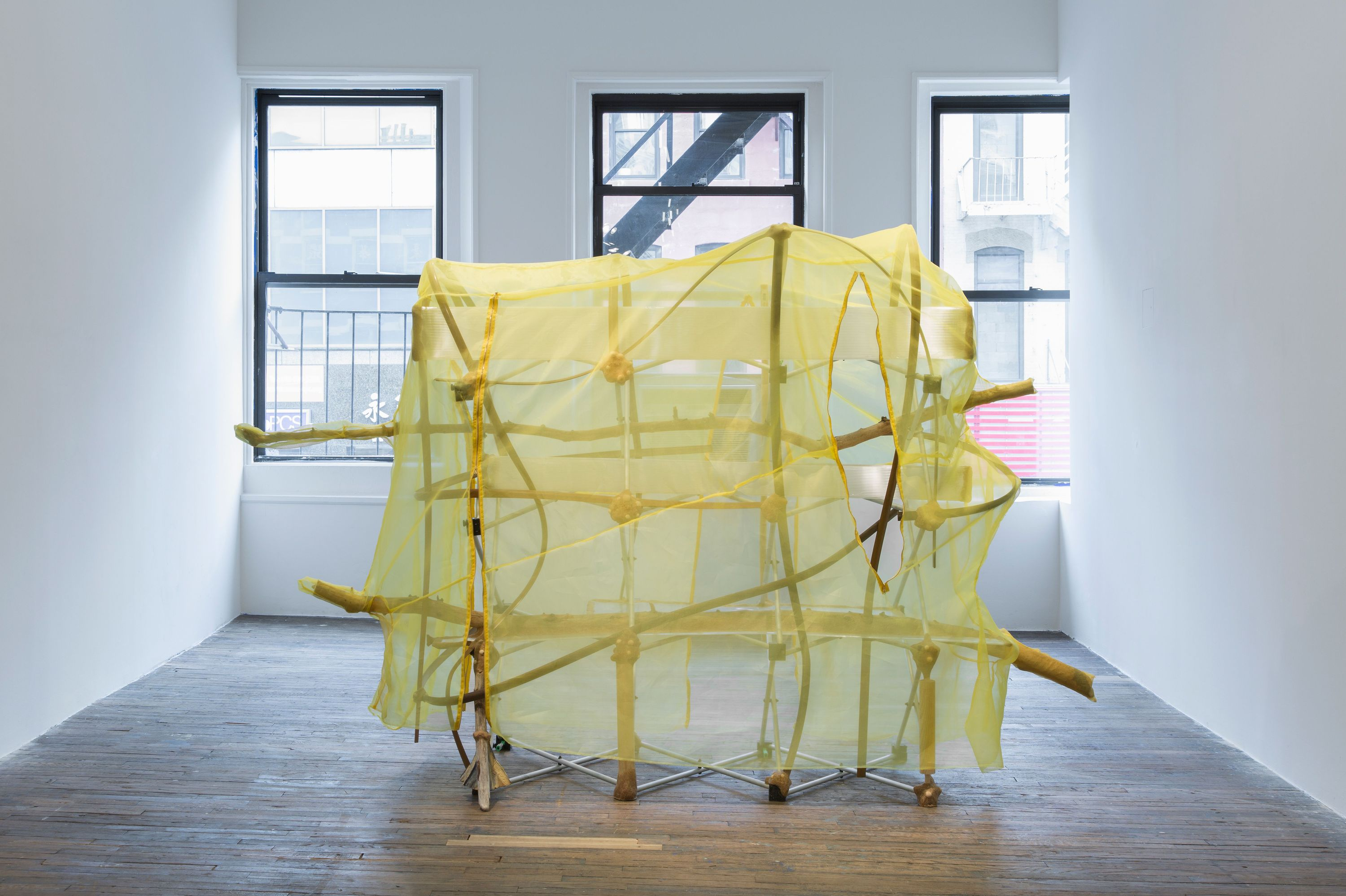Jessi Reaves II sculpture at Bridget Donahue gallery in new york city