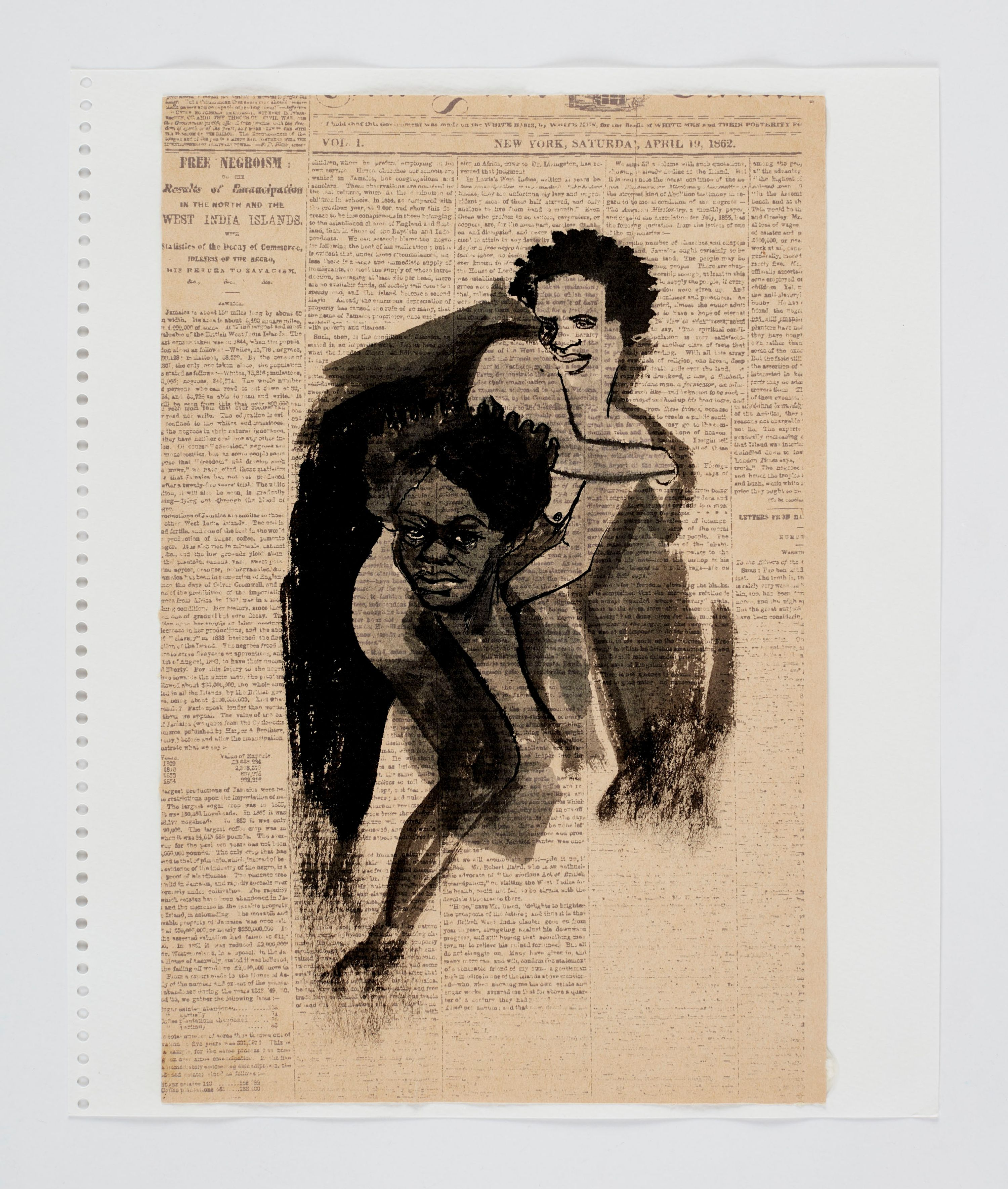 Kara Walker Detail from Notebooks 2019, 2019 Collage, ink, marker, photocopy, tape, stickers, gouache, watercolor, graphite, and colored pencil on paper