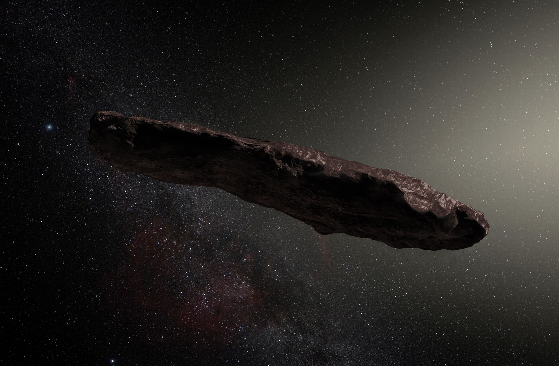 Oumuamua, artists depiction