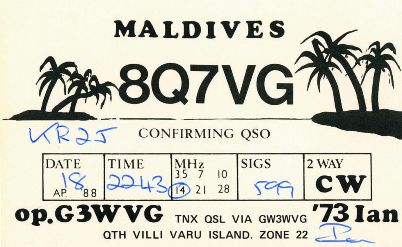 QSL amateur radio operator card.