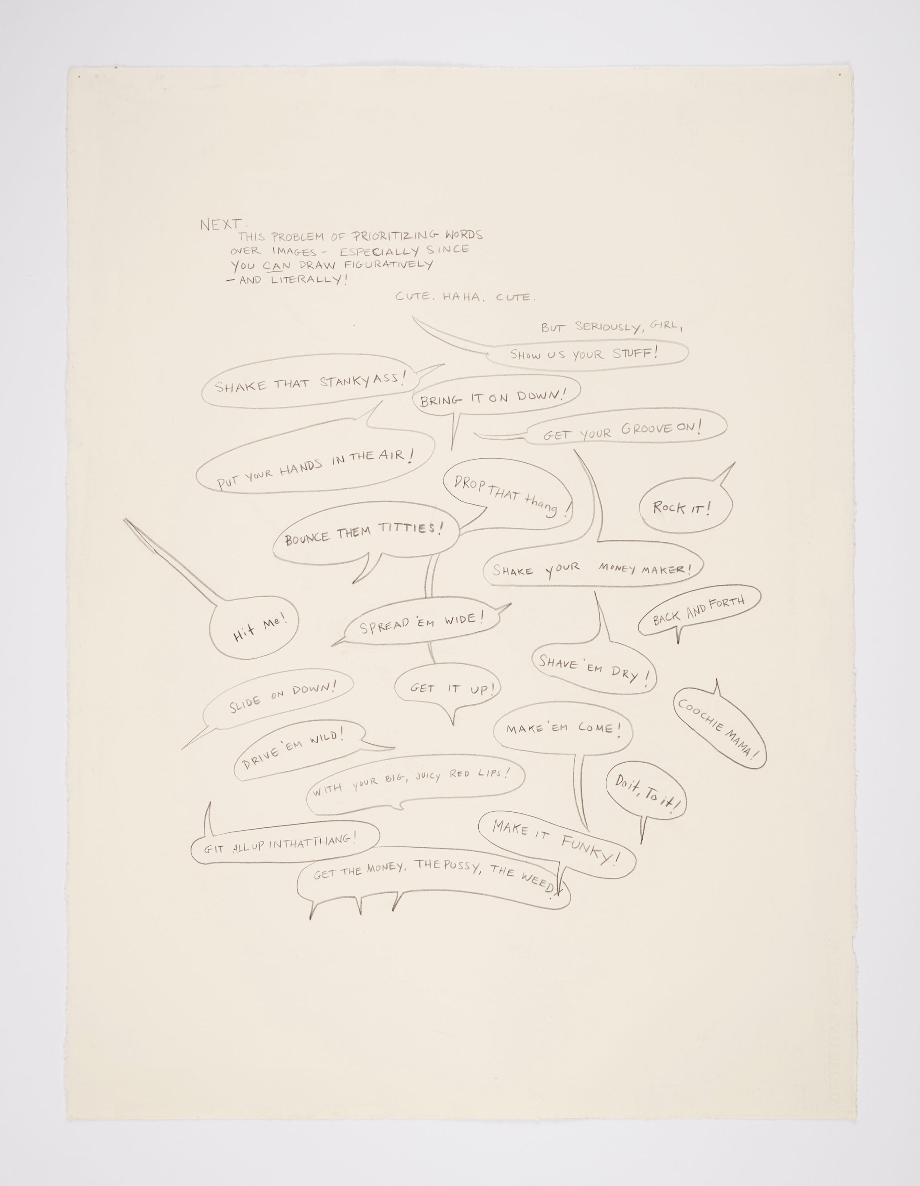 Kara Walker Untitled, 2011 Graphite on paper
