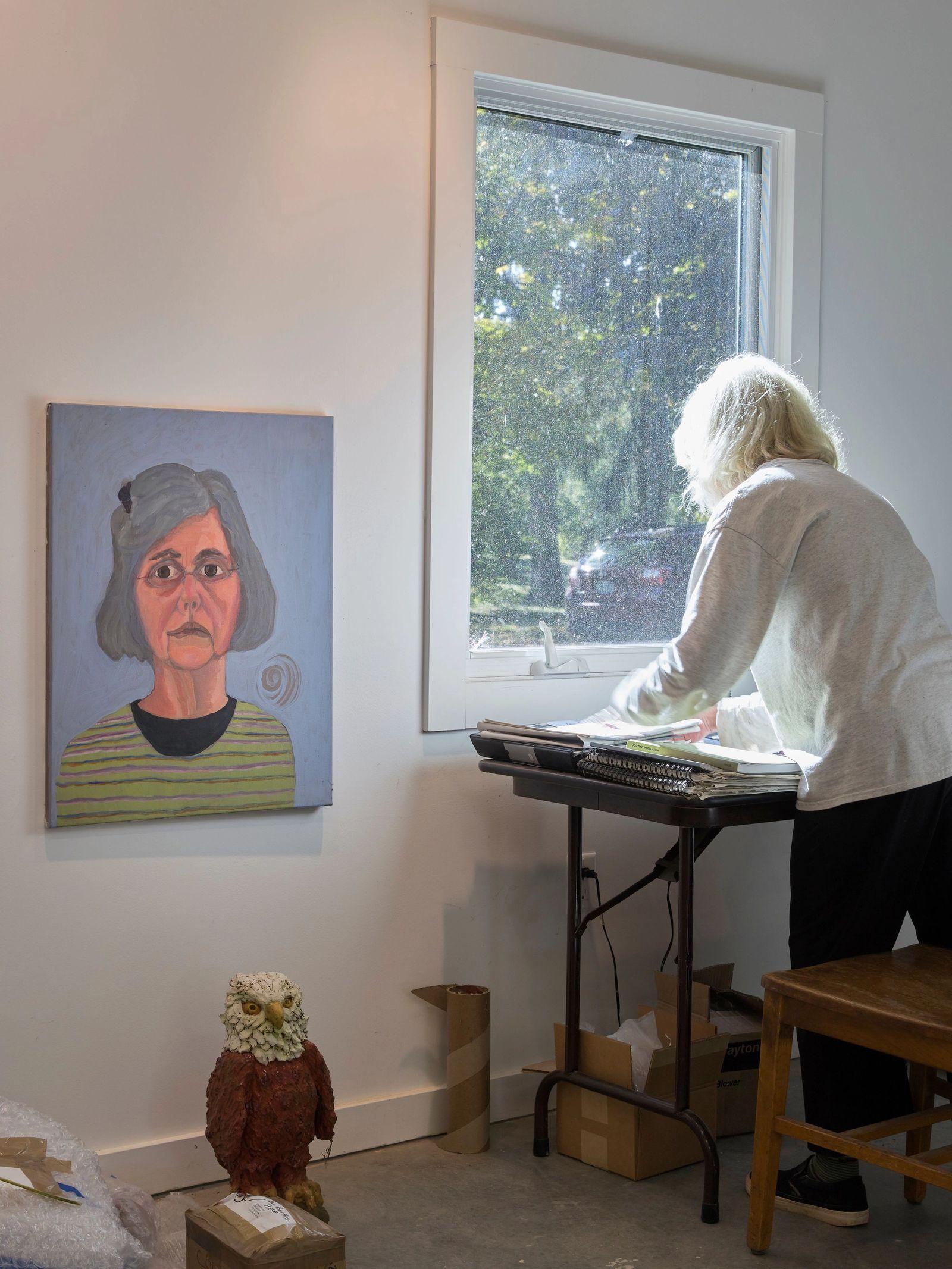 Sally Saul in her studio