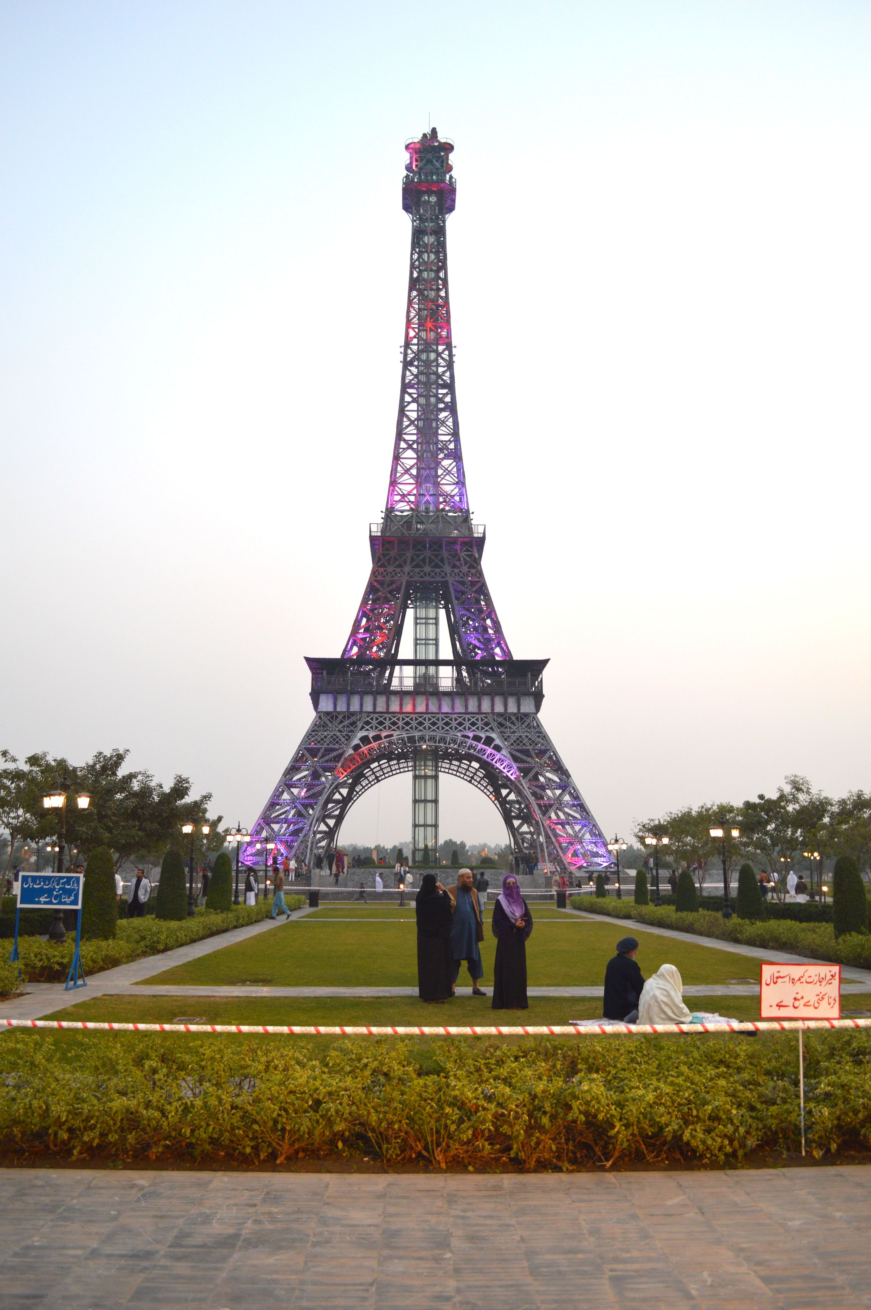 Site Documentation, Eiffel Tower, Bahria Town, Lahore, Pakistan.