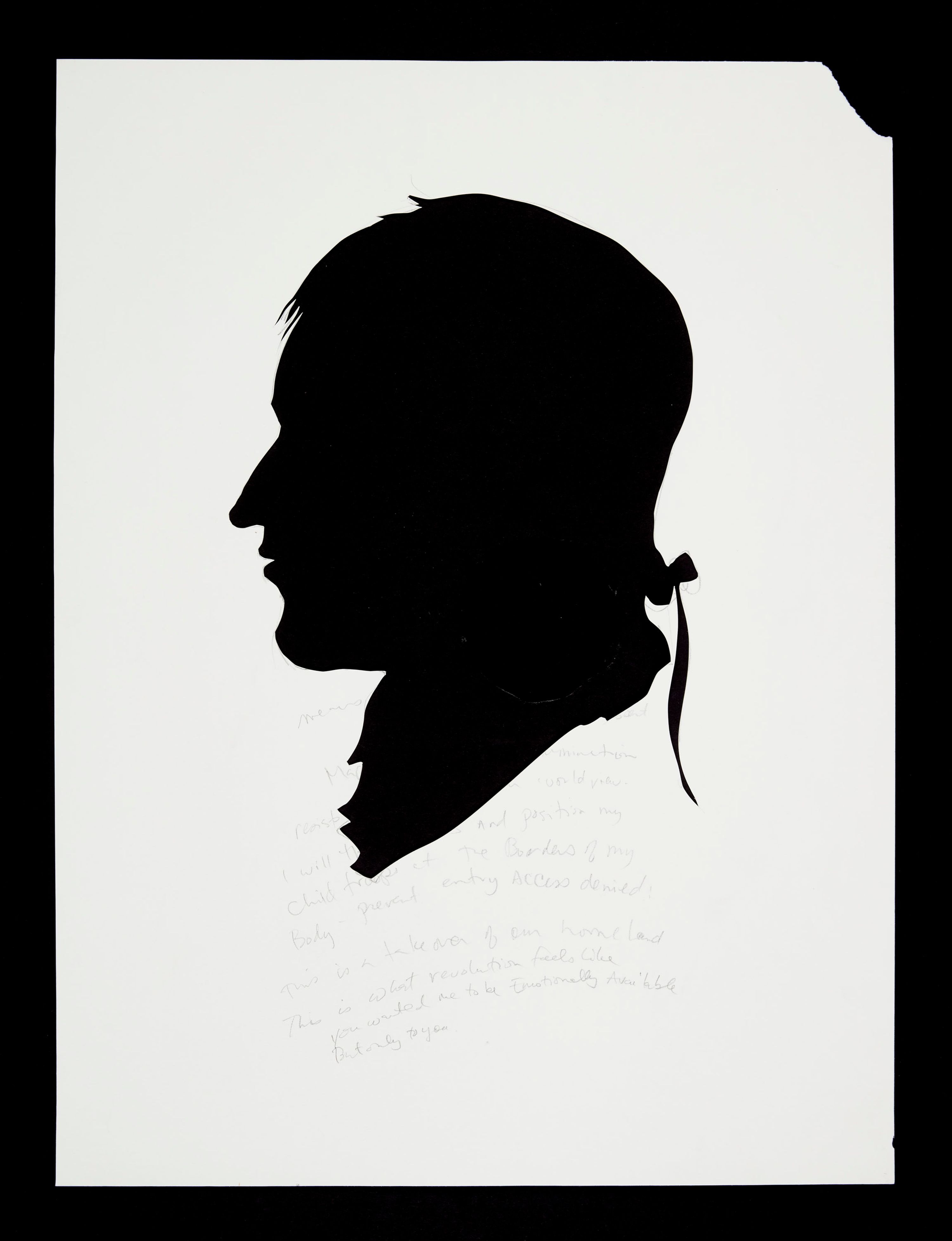 Kara Walker Untitled, n.d. Cut paper 25.75 x 19 inches (65.4 x 48.3 cm)