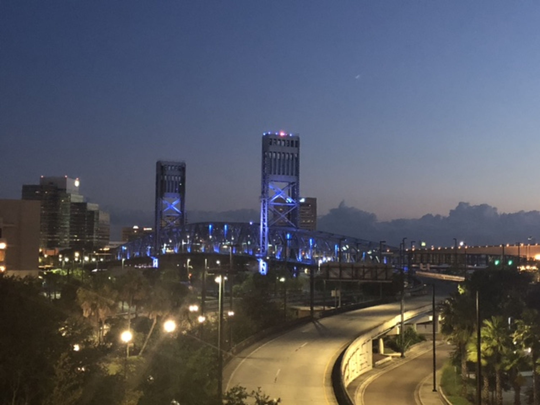 Jacksonville, Florida skyline at night