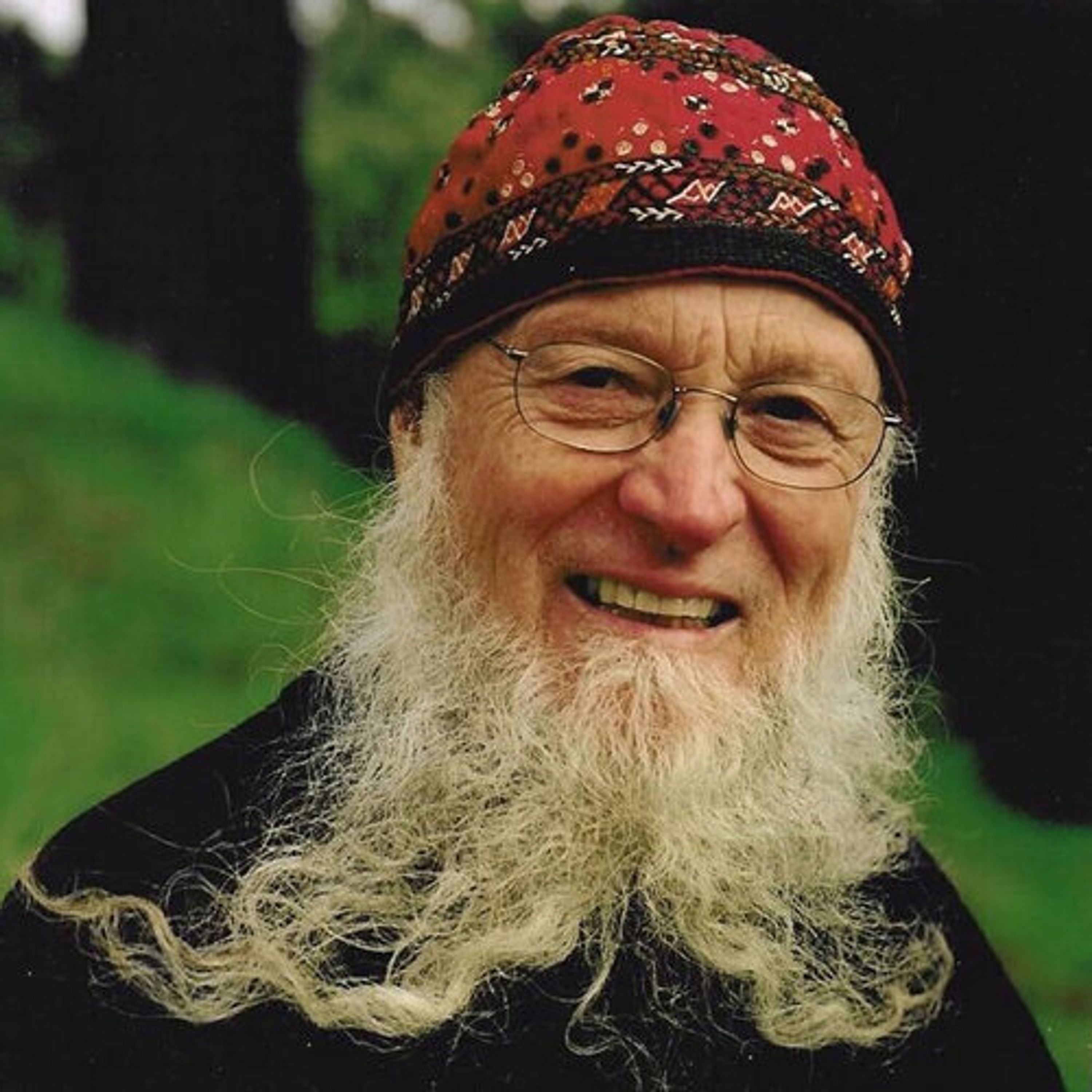 Terry Riley smiling