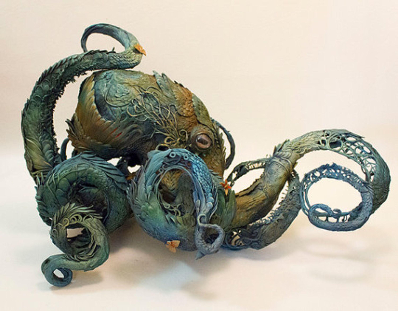 Octopus sculpture by the Canadian artist Ellen Jewett