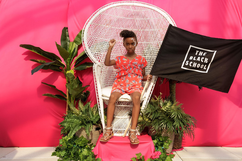 Black Love Fest NYC 2017 photo booth portrait, Tiffany L. Smith, 2017, digital photography, courtesy of The Black School