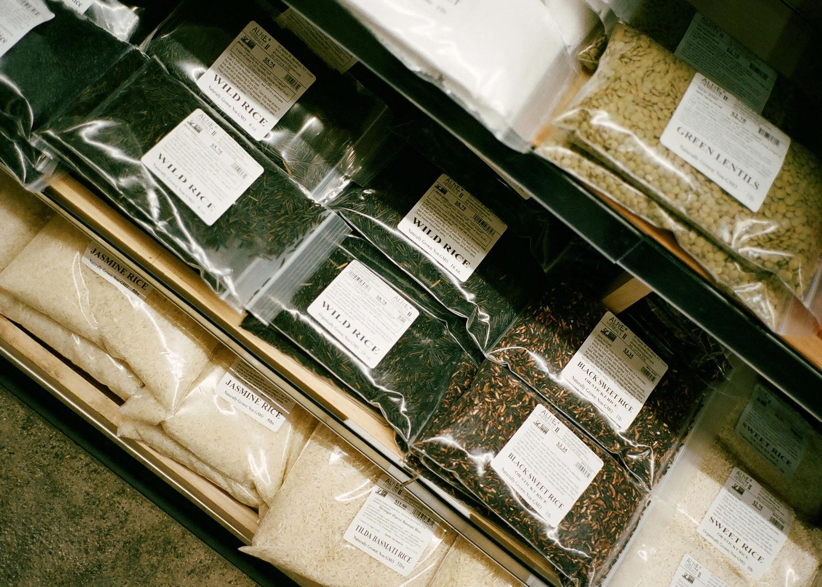 bags of spices for sale at Alive Herbal