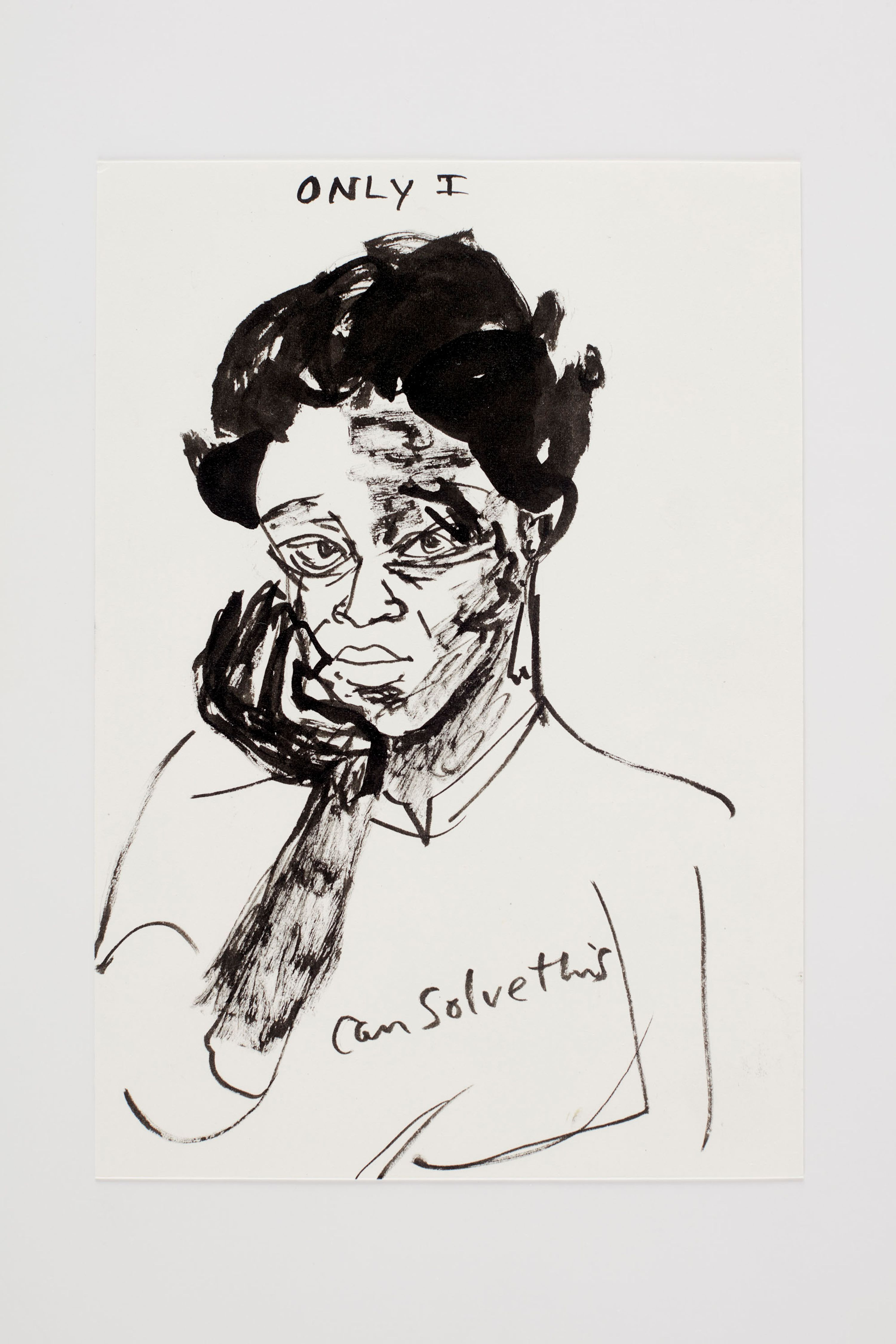 Kara Walker Detail from Only I Can Solve This (the 2016 election), 2016 Ink, watercolor, and graphite on paper