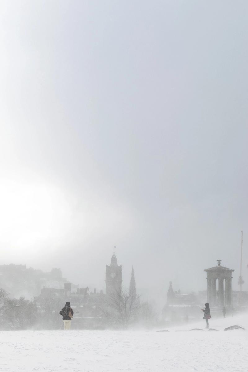 Edinburgh in the snow