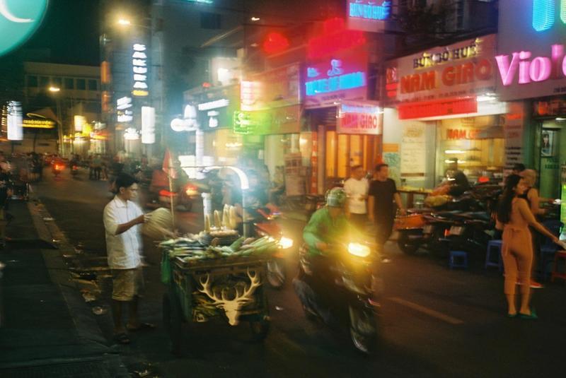 Street lights at night