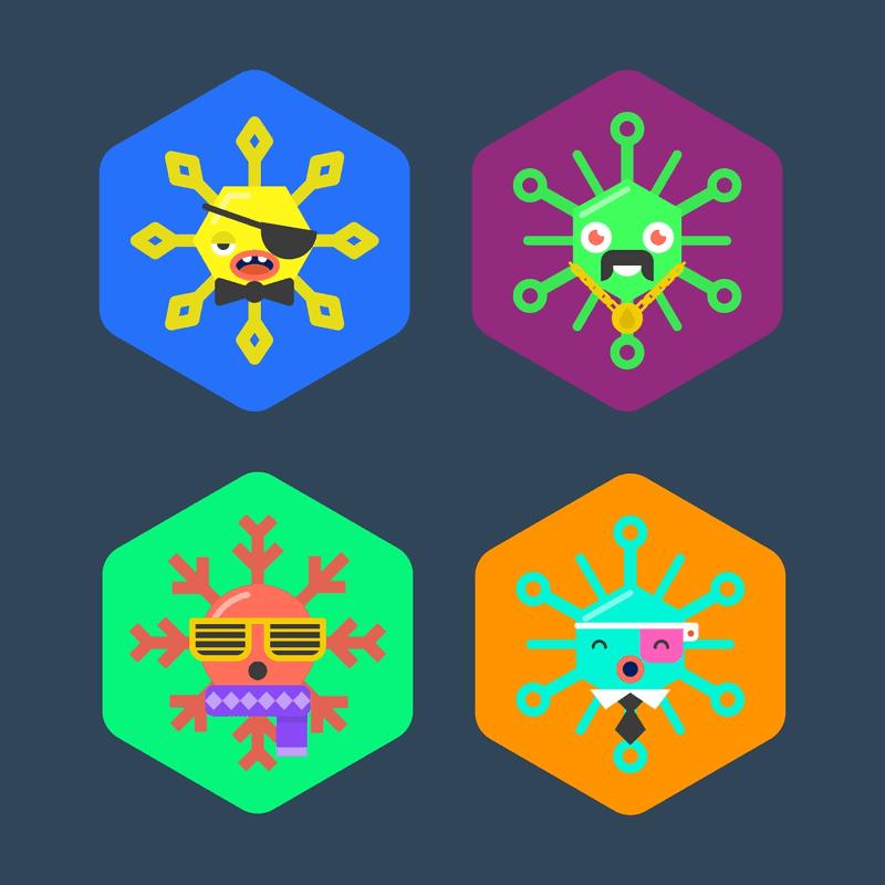 Snowflake Identicons