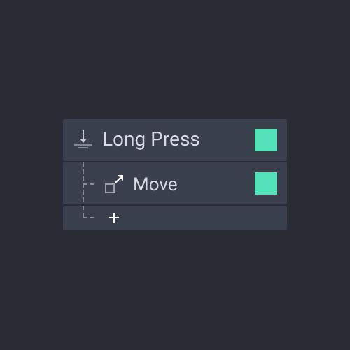 panel trigger long press