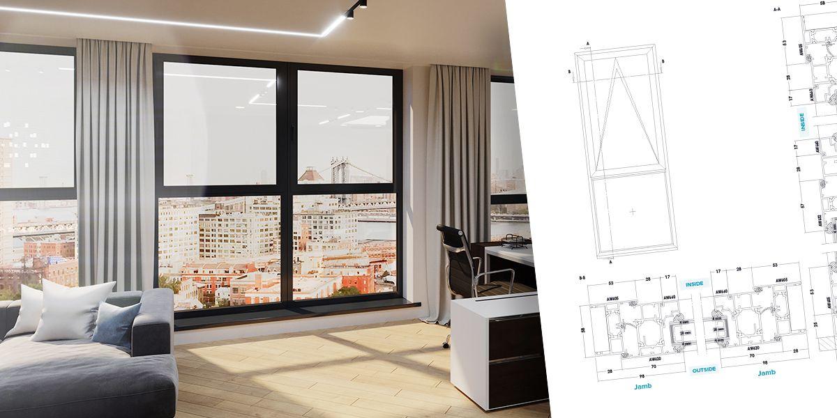 Commercial Casement Window