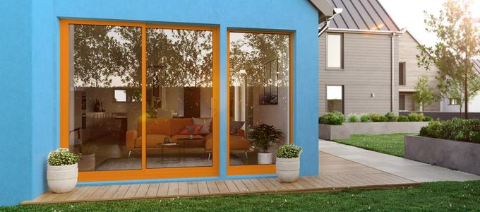 Interior image of bi-fold doors