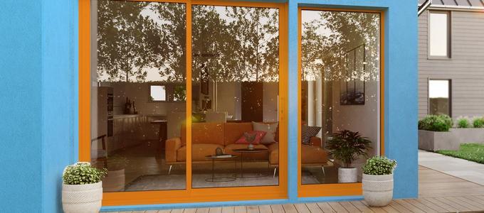 Exterior image of bi-fold doors