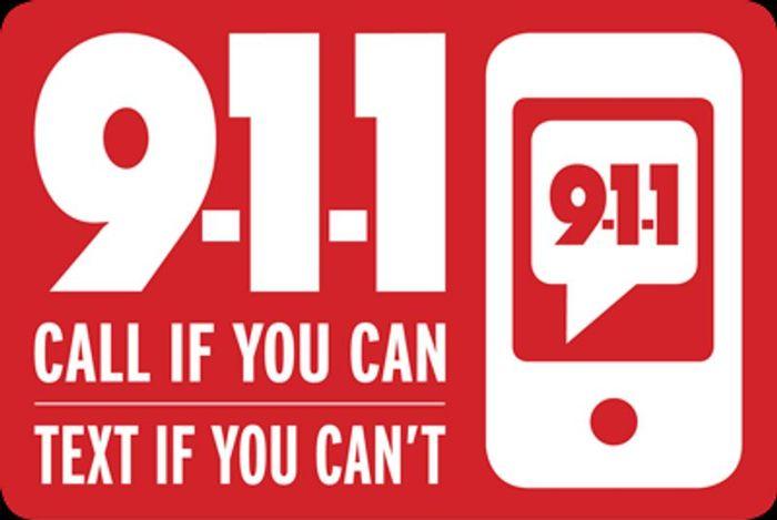 911 Text Banner