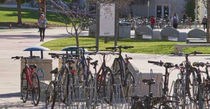 Bike Racks in Cal Poly UU