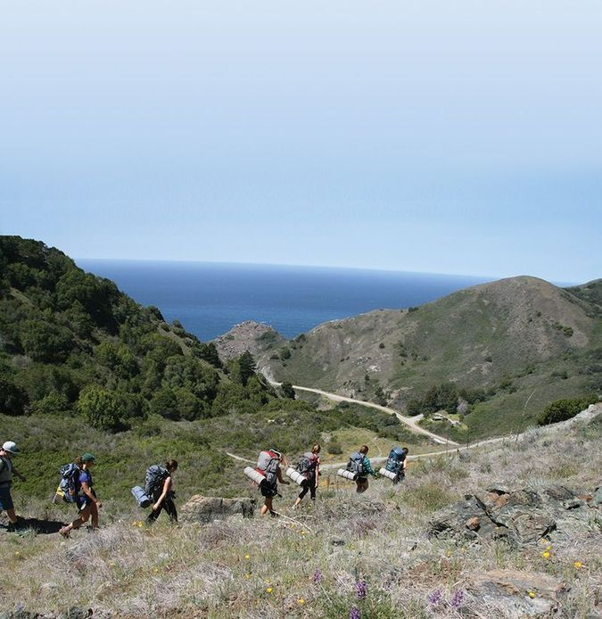 Cal Poly Students Backpacking