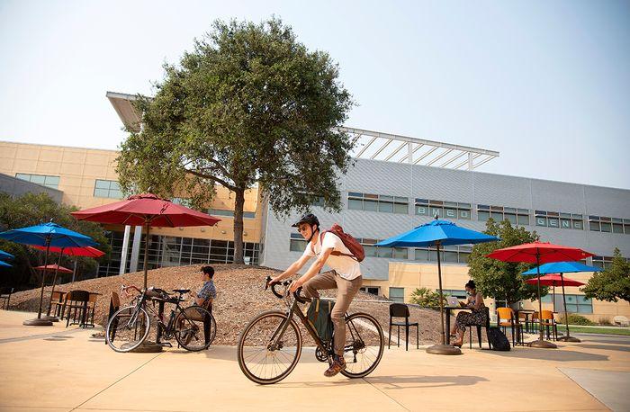 Bike ride on campus