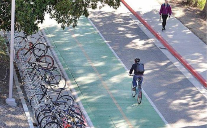 Cal Poly Campus Bike Lane