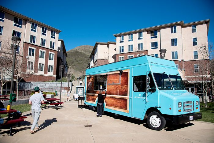 Central Coaster food truck in Poly Canyon Village