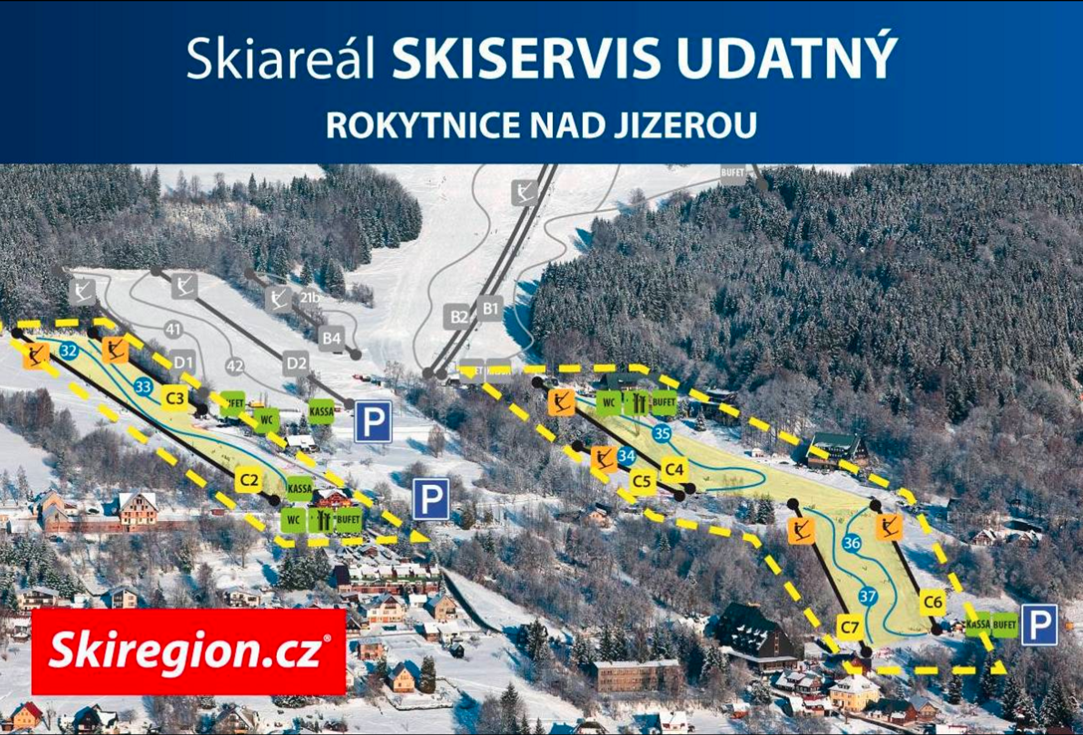 Rokytnice ski-resort-trail-map Czech Republic ripatrip