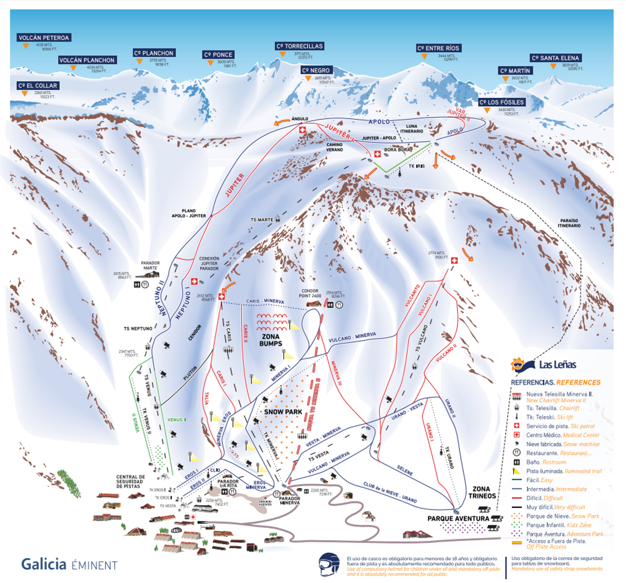 Las Lenas ski-resort-trail-map Argentina ripatrip