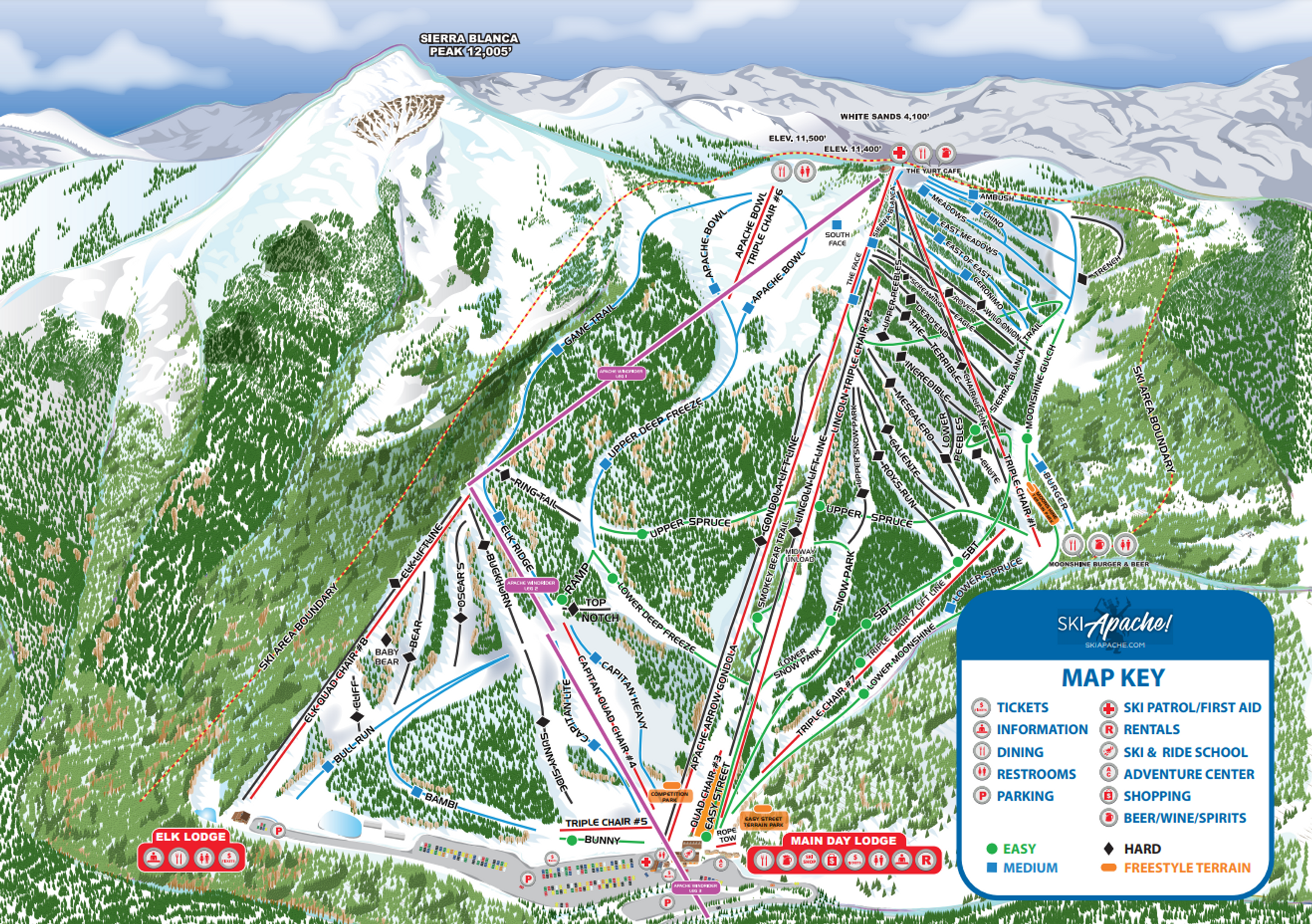 Apache ski-resort-trail-map United States ripatrip