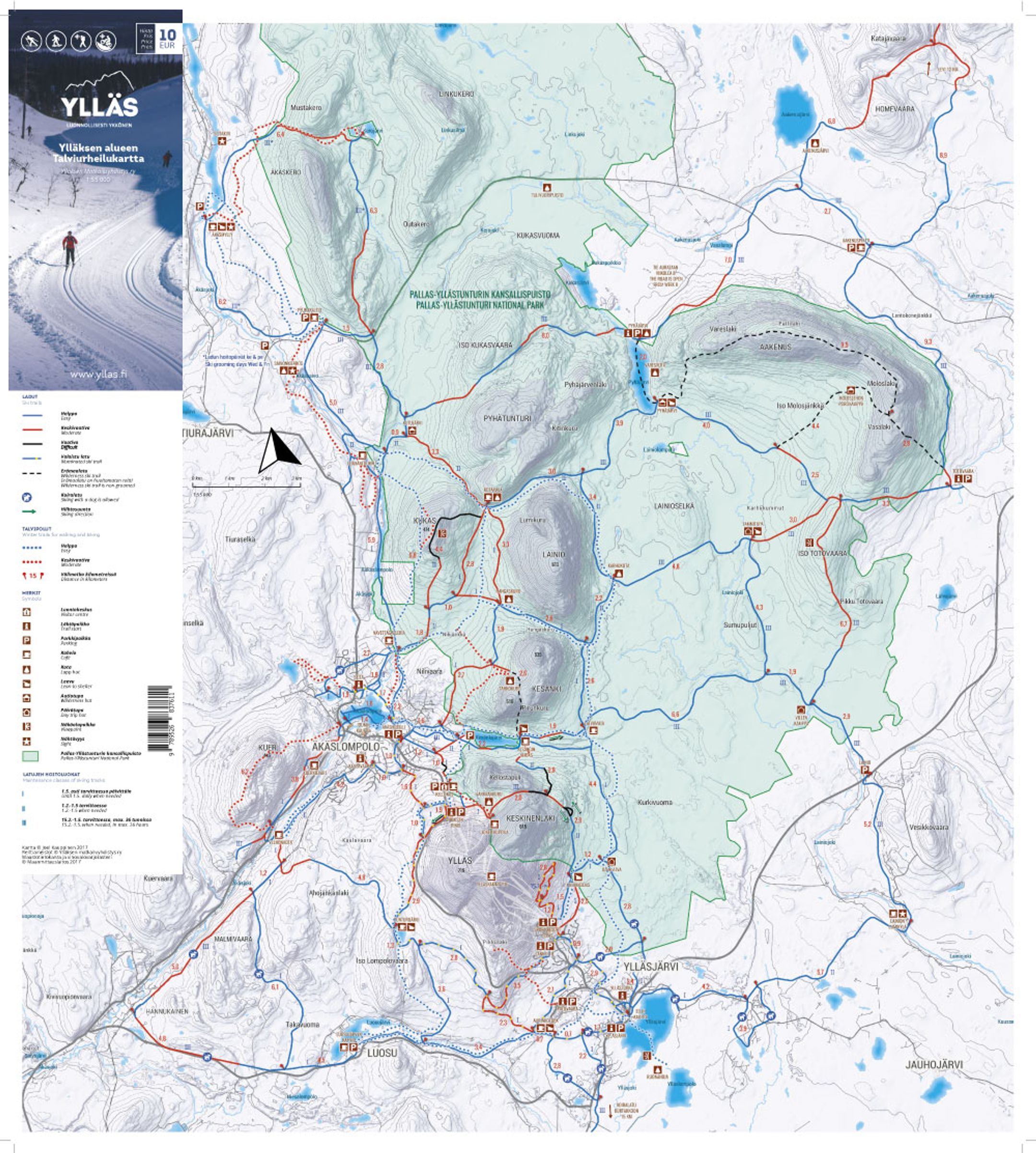 Yllas ski-resort-trail-map Finland ripatrip