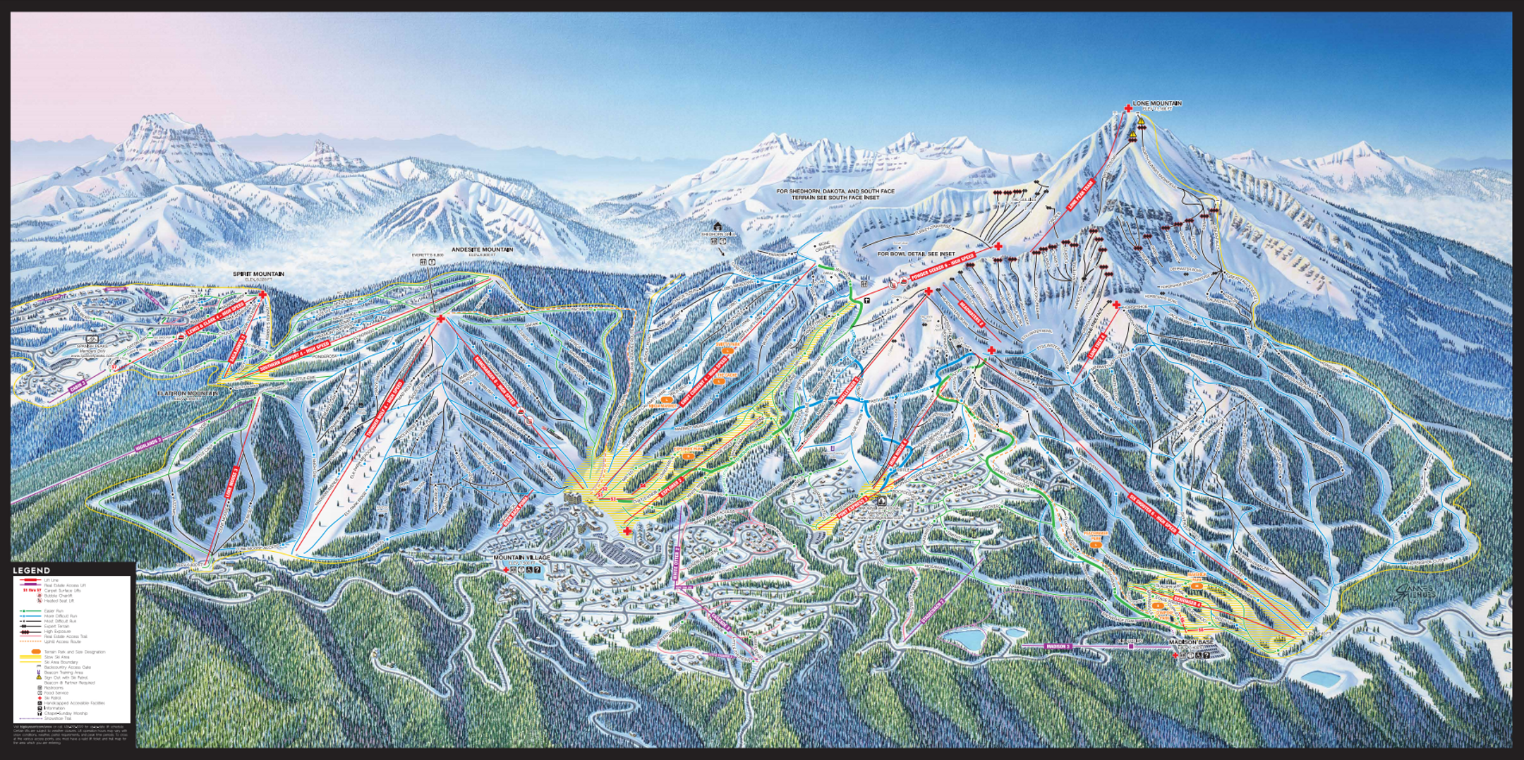Big Sky ski-resort-trail-map United States ripatrip