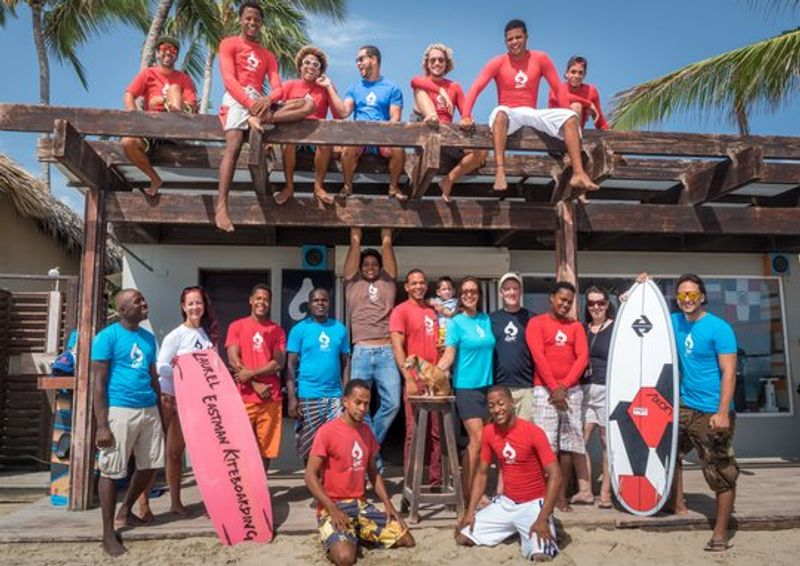 Kiteboarding Cabarete Dominican Laurel Eastman Kiteboarding School