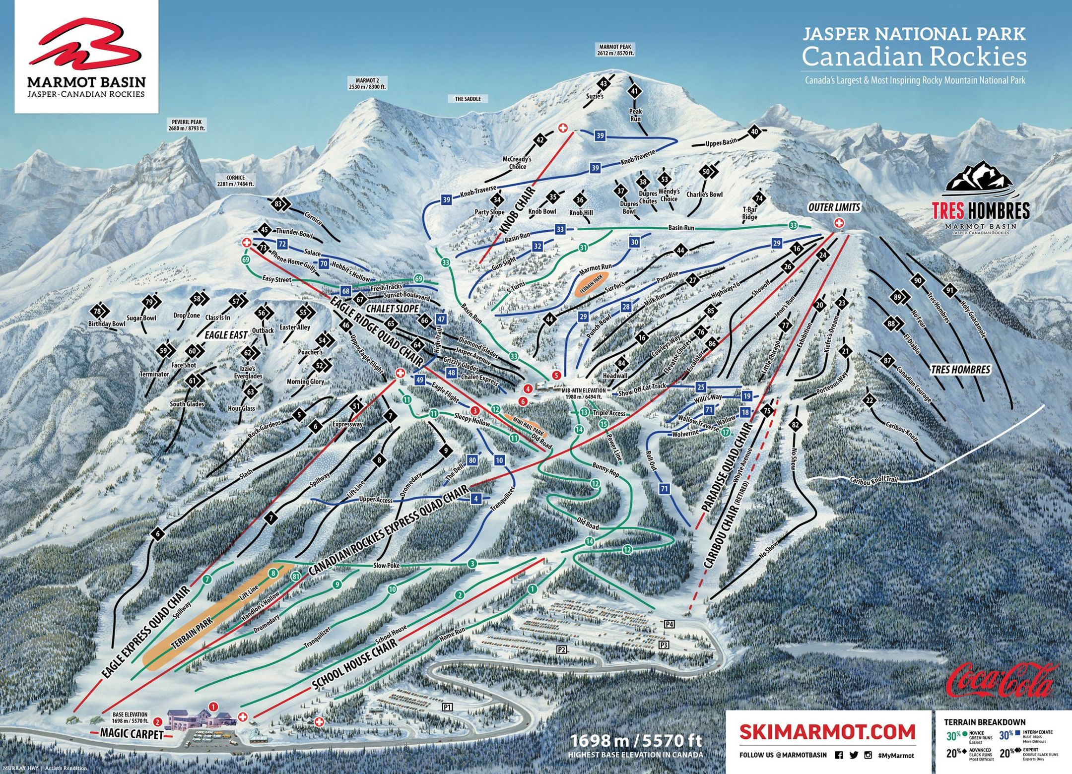 Marmot Basin ski-resort-trail-map Canada ripatrip