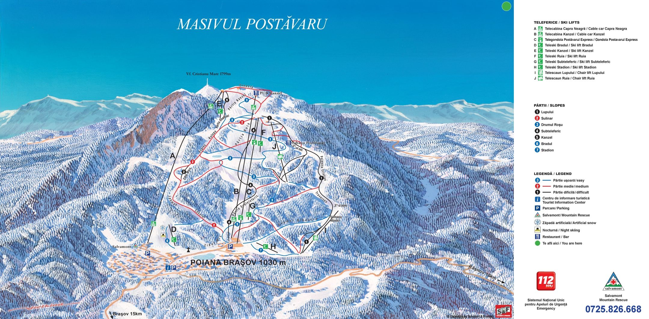 Poiana Brasov ski-resort-trail-map Romania ripatrip