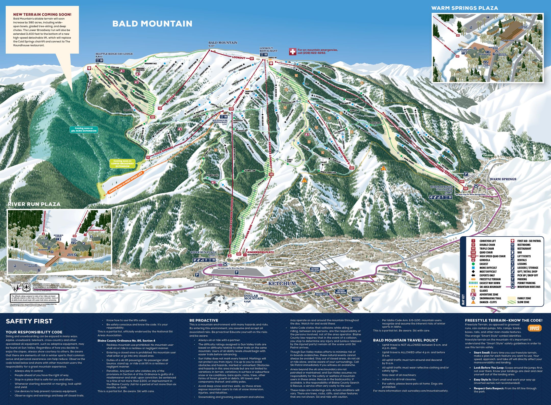 Sun Valley ski-resort-trail-map United States ripatrip