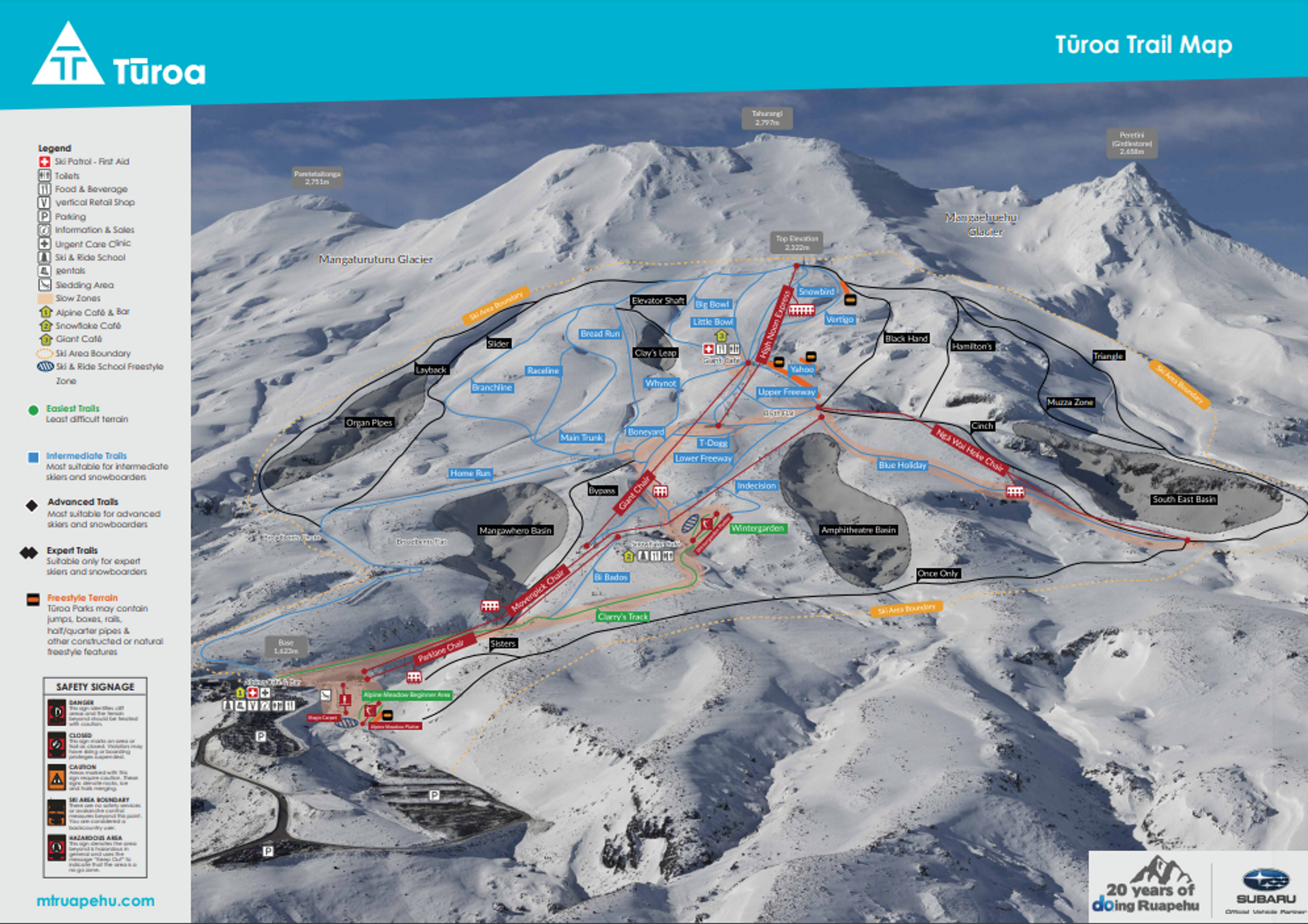 Turoa ski-resort-trail-map New Zealand ripatrip