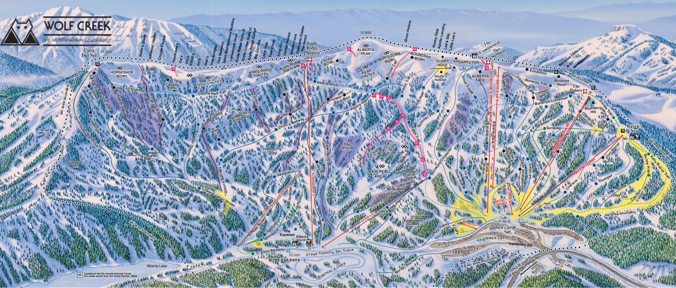 Wolf Creek ski-resort-trail-map United States ripatrip