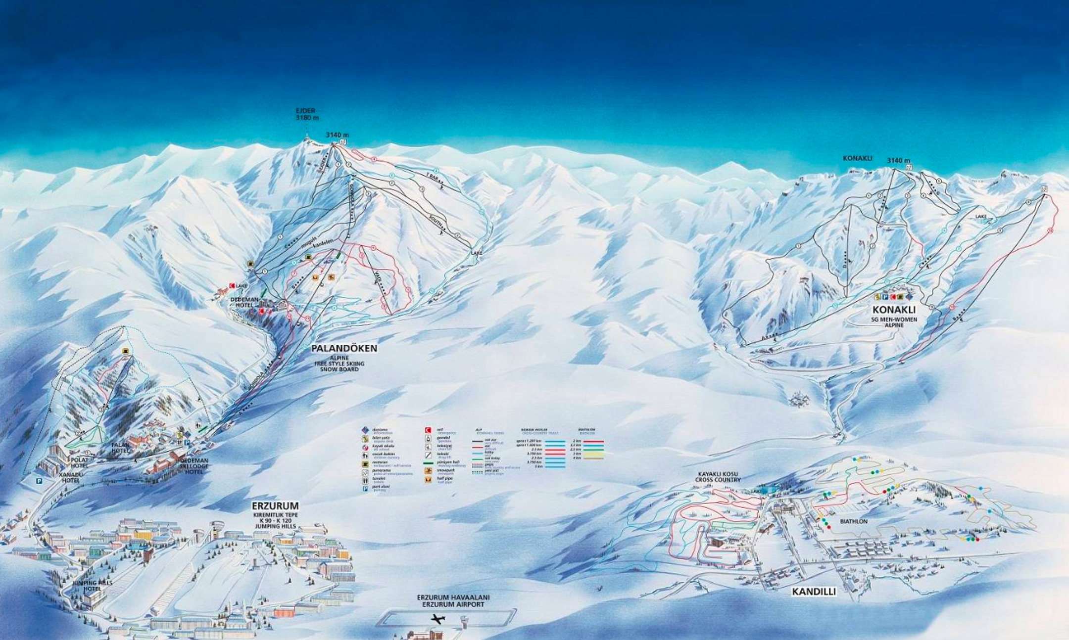 Ejder 3200 Palandoken ski-resort-trail-map Turkey ripatrip